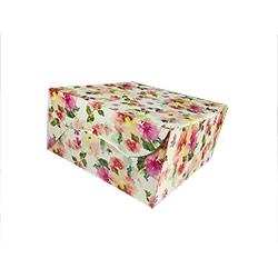 Reliable White Floral Cake Box - 8 Pcs