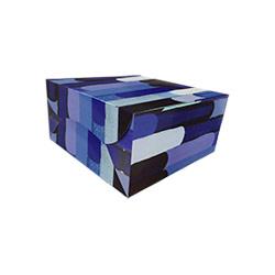 Reliable Blue Printed Cake Box - 8 Pcs