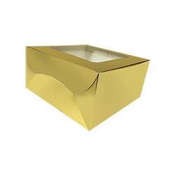 Reliable Golden Cake Box - 8 Pcs