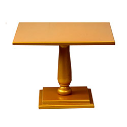 Gold Square Wooden Cake Stand