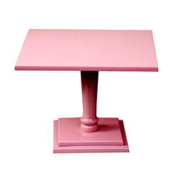 Pink Square Wooden Cake Stand