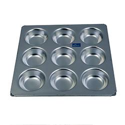 Rolex 9 Cup Aluminium Muffin Pan