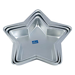 3 Pc Mixed Star Cake Mould