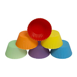 Pack of 6 Silicone Muffin Mould