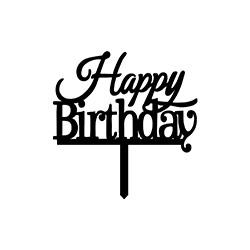 Bold Happy Birthday Cake Topper