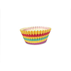 11cm Colourful Strips Muffin Liner