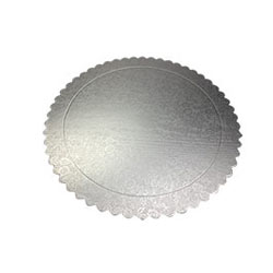 Silver Flower Cake Base - Pack of 5