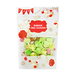 Mix Colour Edible Flower Toppers
