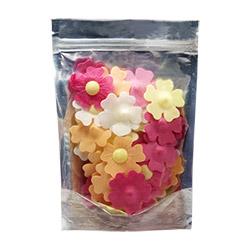 Mix Color Edible 5 Petal Flower Toppers