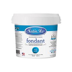 Satin Ice Blue Vanilla Fondant